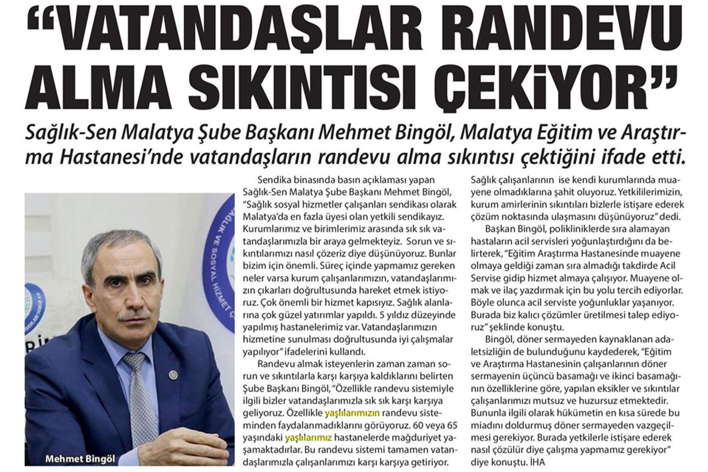 """""""Vatandaşlar Randevu Almakta Sıkıntı Çekiyor"""""""