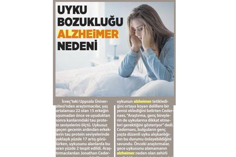 Uyku Bozukluğu Alzheimer Nedeni