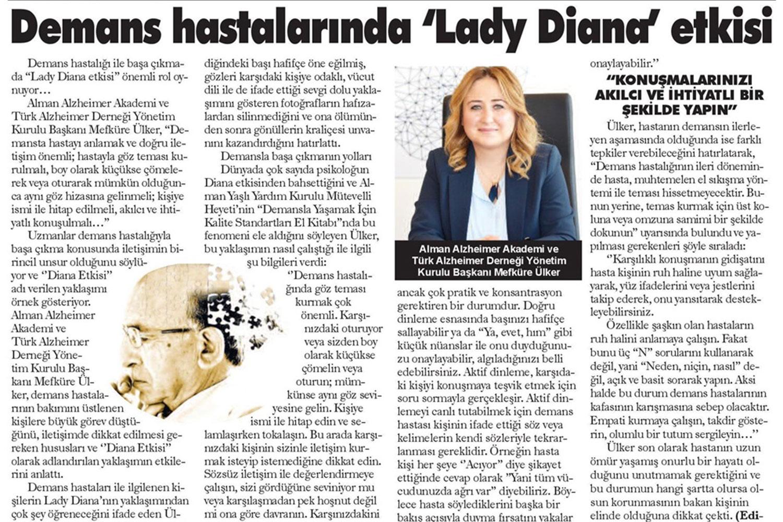 Demas Hastalarında Lady Diana Etkisi
