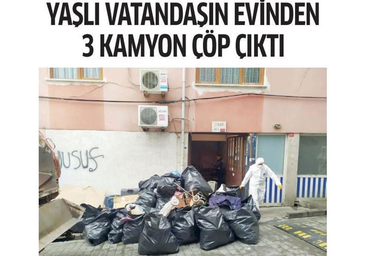 Yaşlı Vatandaşın Evinden 3 Kamyon Çöp Çıktı