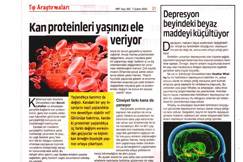 Kan Proteinleri Yaşınızı Ele Veriyor