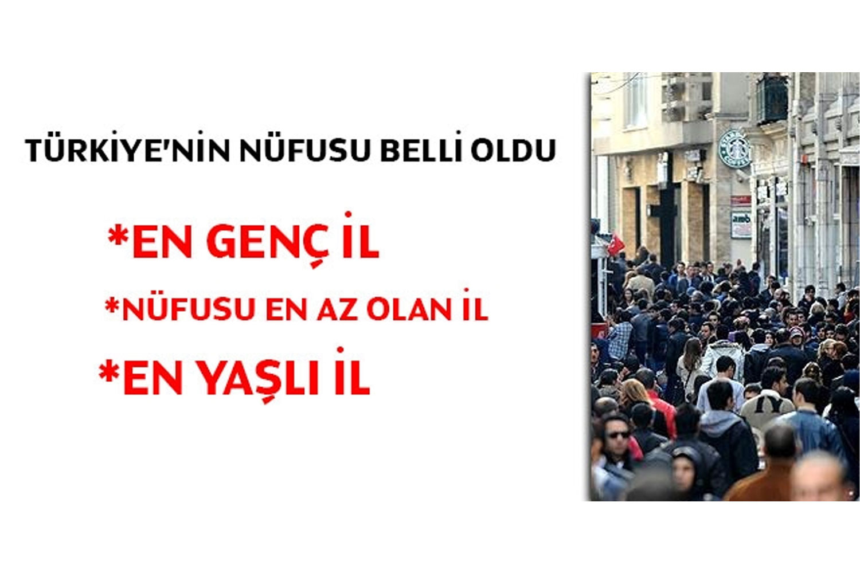Türkiye'nin toplam nüfusu belli oldu