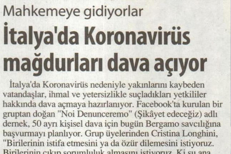 Koronavirüs Mağdurları Mahkemeye Veriyor