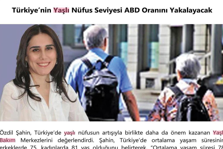 Türkiye'nin Yaşlı Nüfus Seviyesi ABD Oranını Yakalayacak