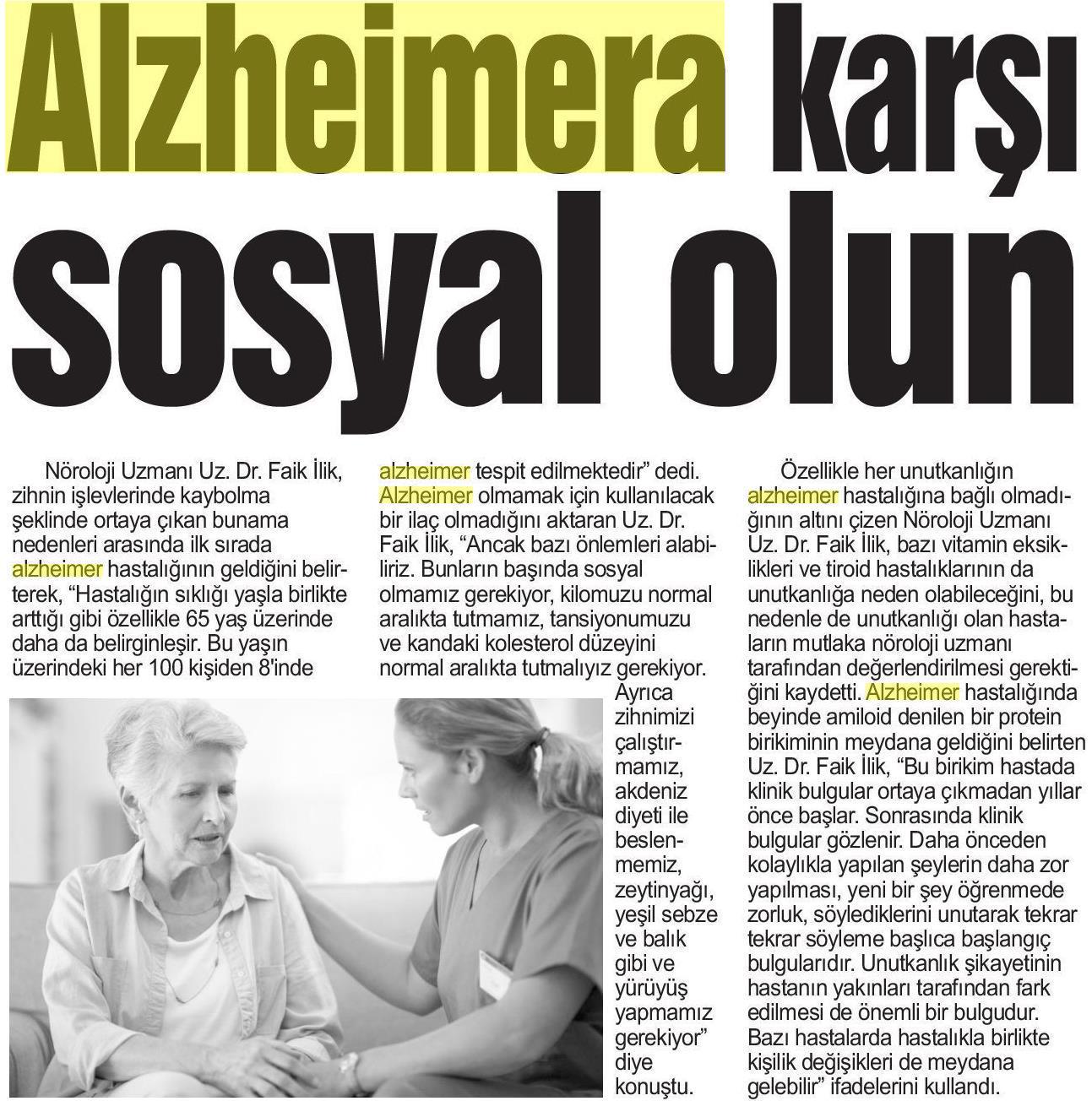 Alzheimer'a Karşı Sosyal Olun