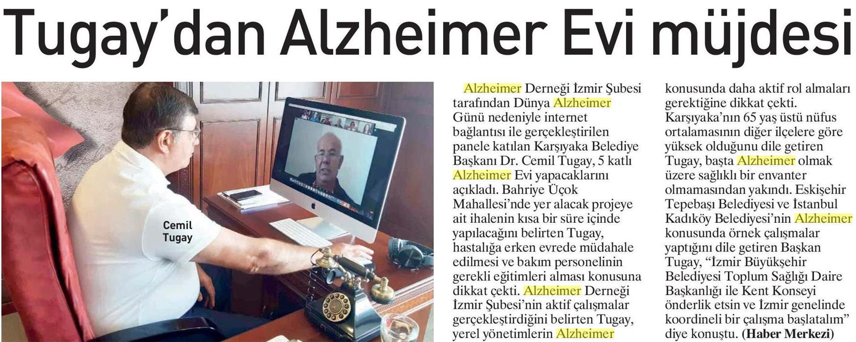 Tugay'dan Alzheimer Evi Müjdesi