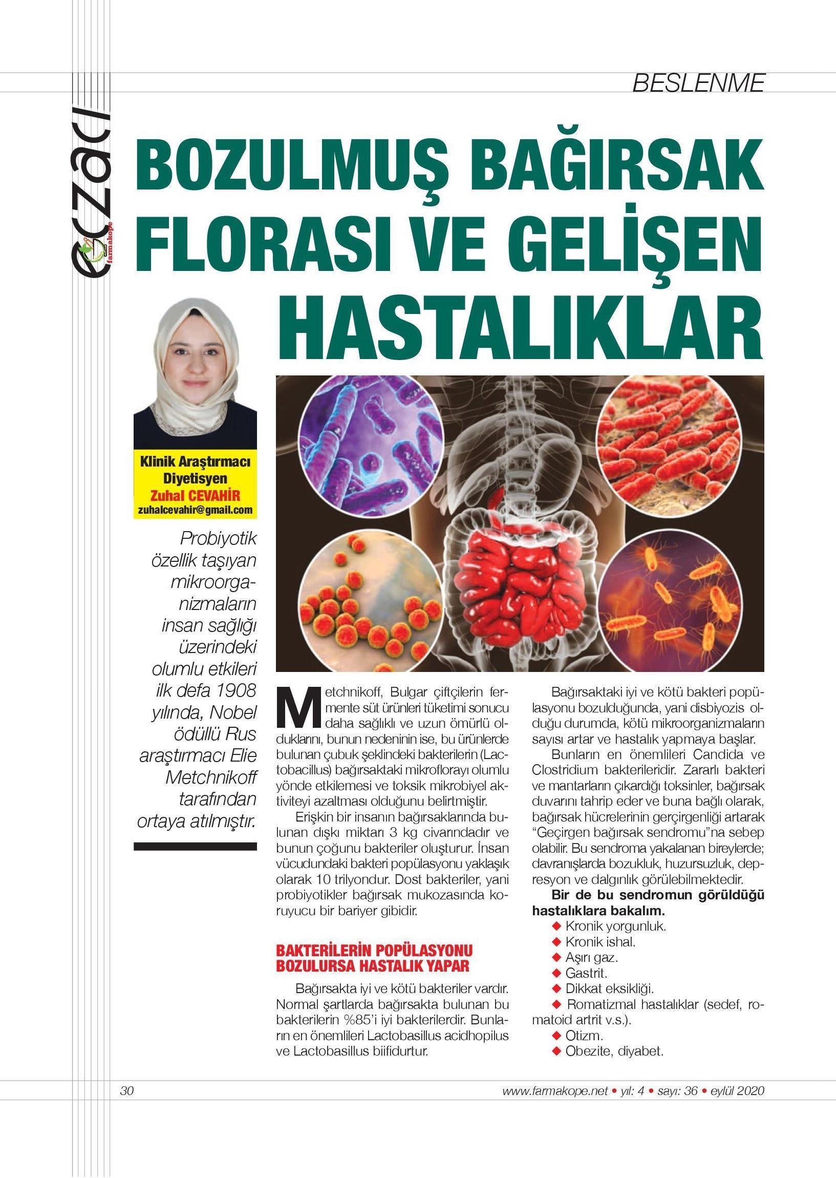 Bozulmuş Bağırsak Florası ve Gelişen Hastalıklar