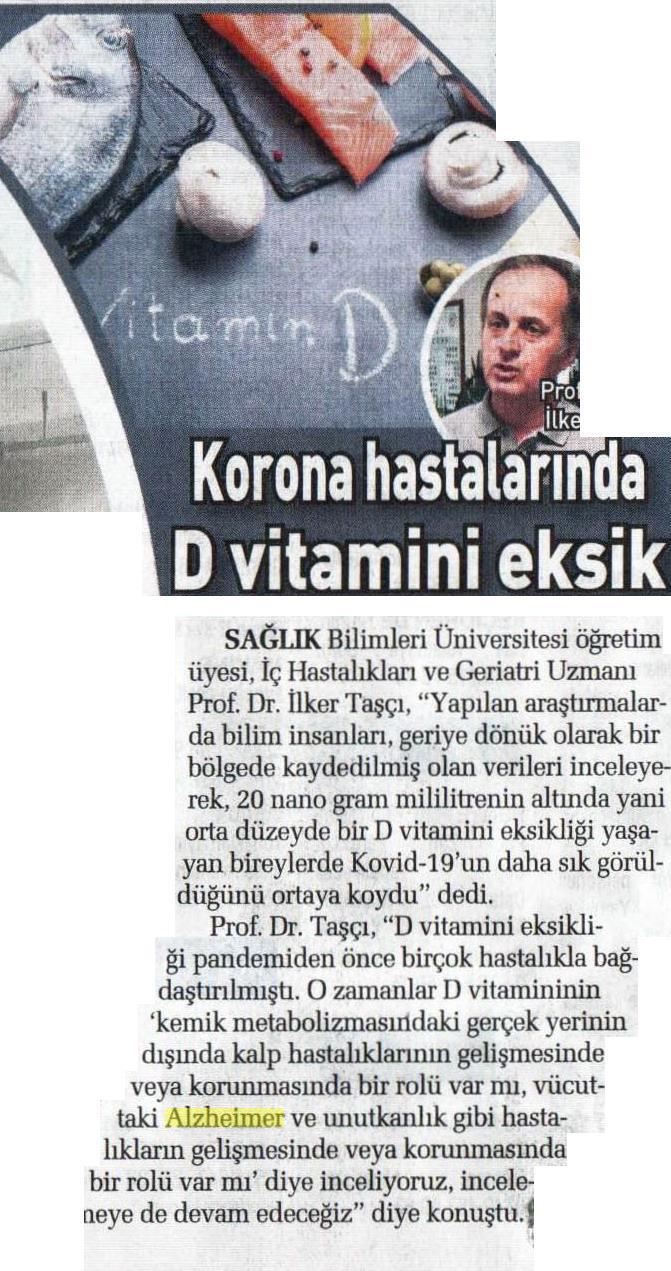 Korona Hastalarında D Vitamini Eksik