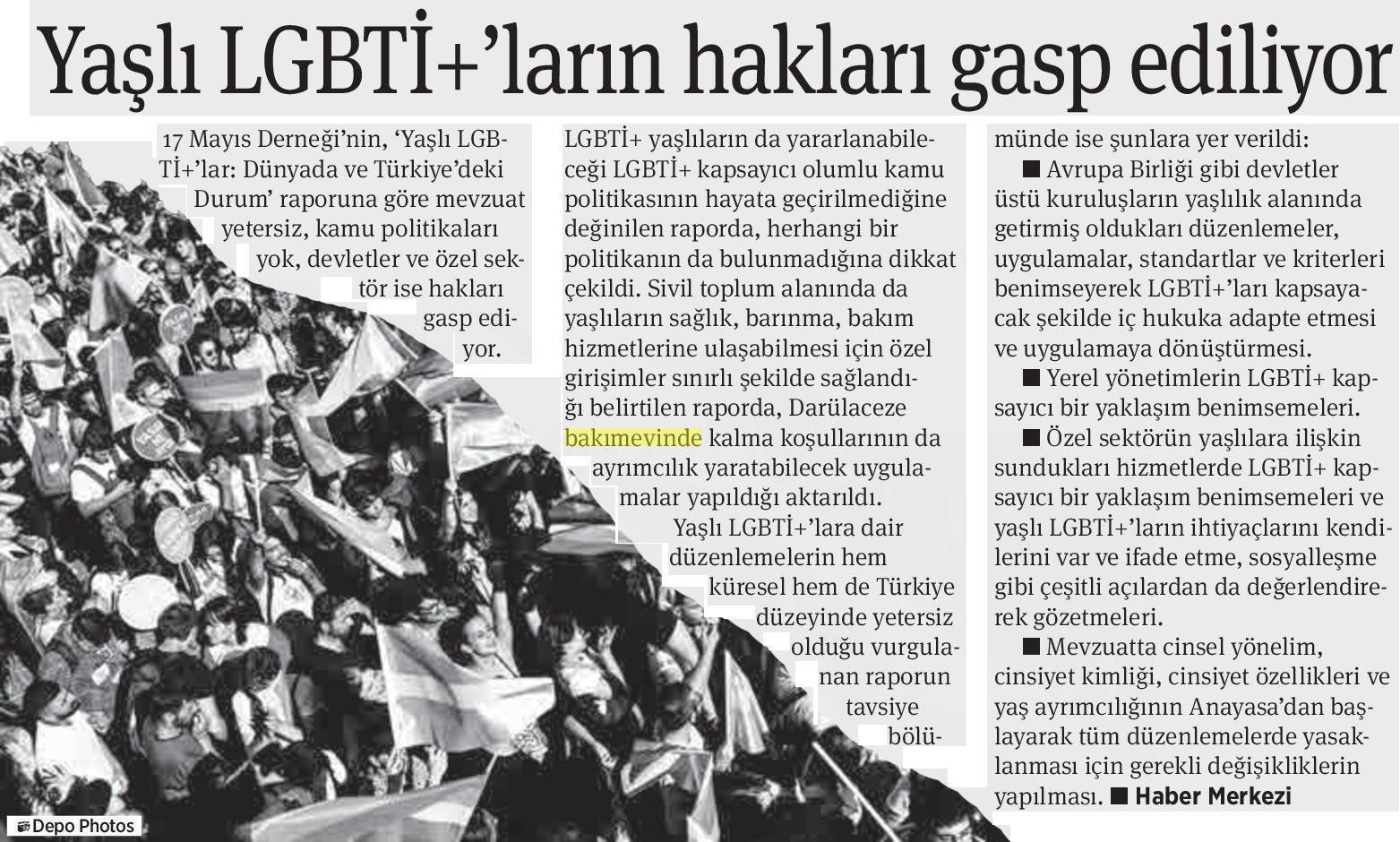 Yaşlı LGBTİ+'ların Hakları Gasp Ediliyor