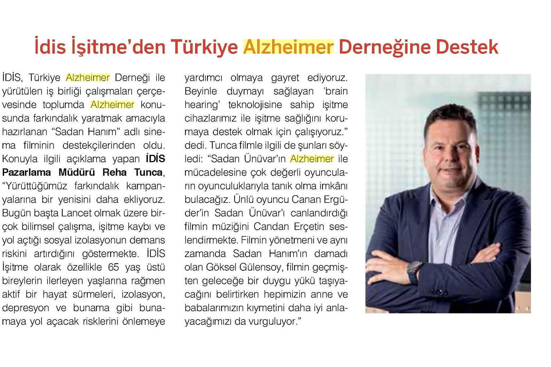İdis İşitme'den Türkiye Alzheimer Derneğine Destek