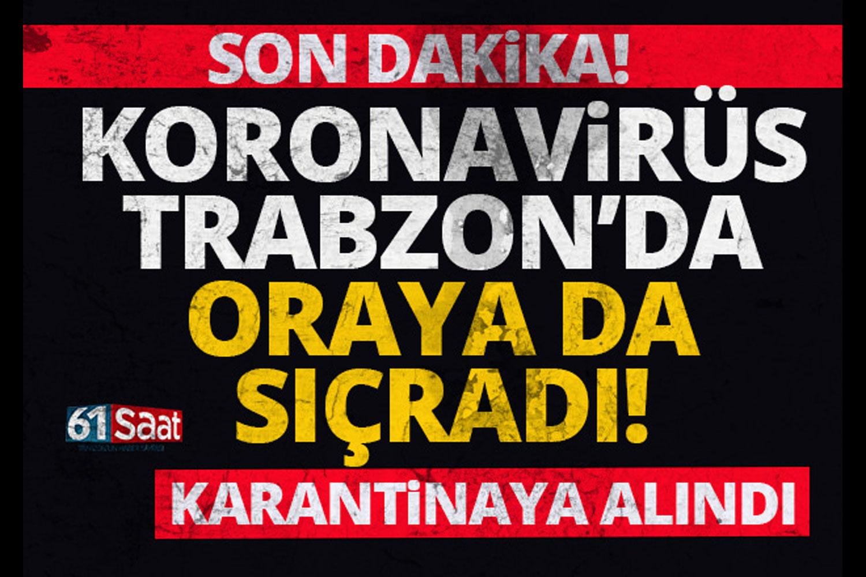 Trabzon Huzurevi, Koronavirüs nedeniyle karantinaya alındı!